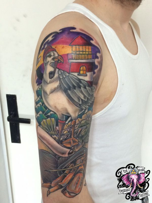 M we und leuchtturm the pink elephant tattoo - Tattoo leuchtturm ...